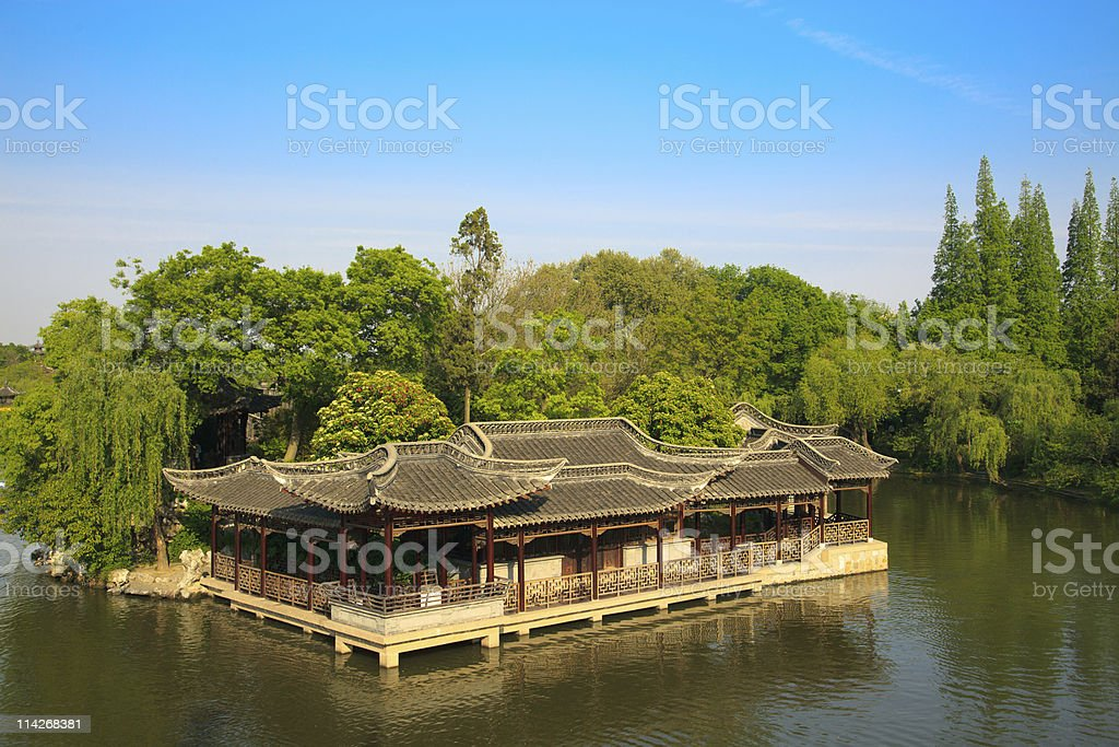 Chinese old style elegant buildings royalty-free stock photo