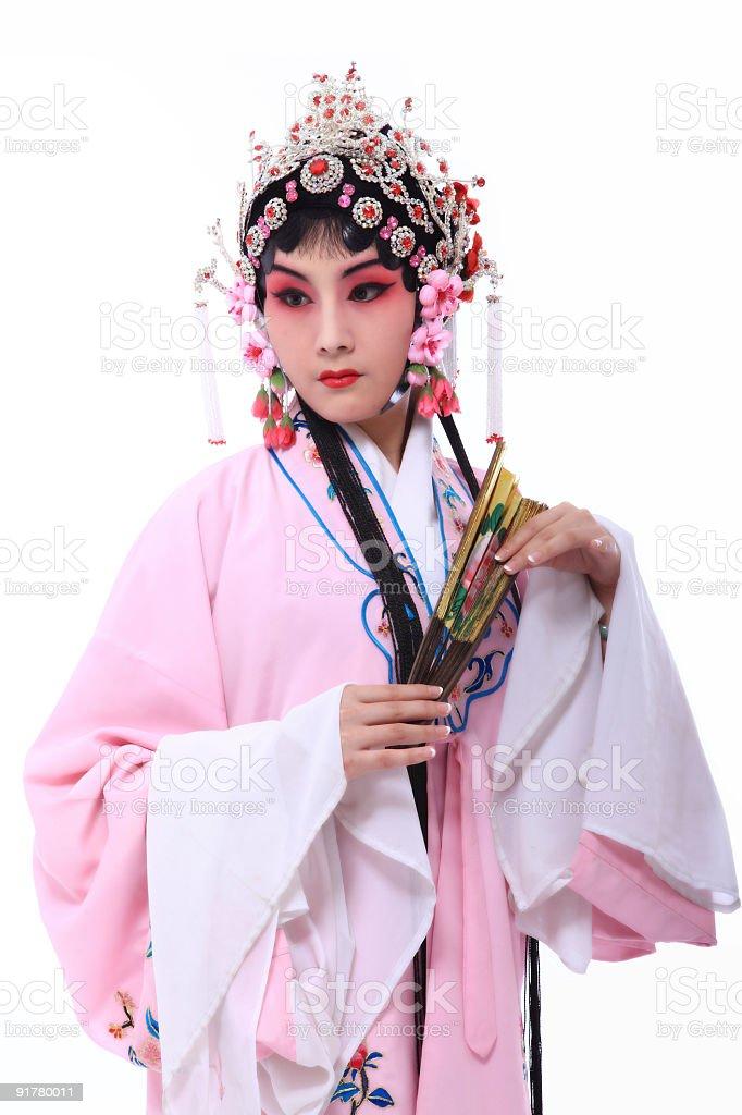 chinese opera actor stock photo