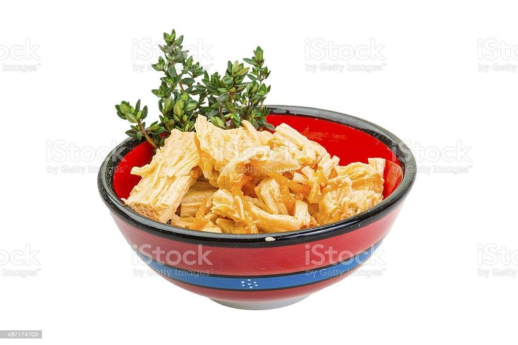 Chinese or korean Yuba (tofu bamboo) stock photo