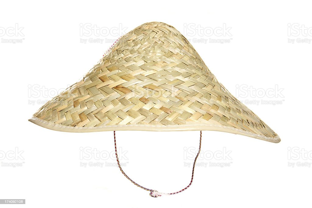 Chinese oriental hat stock photo