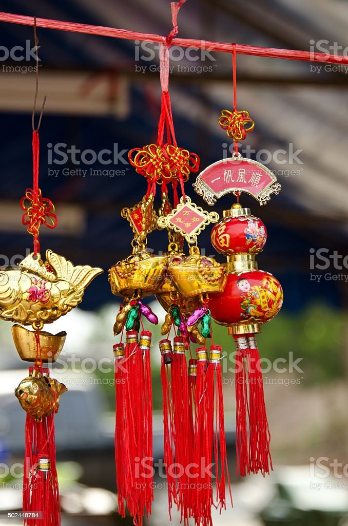 Chinese ornaments stock photo