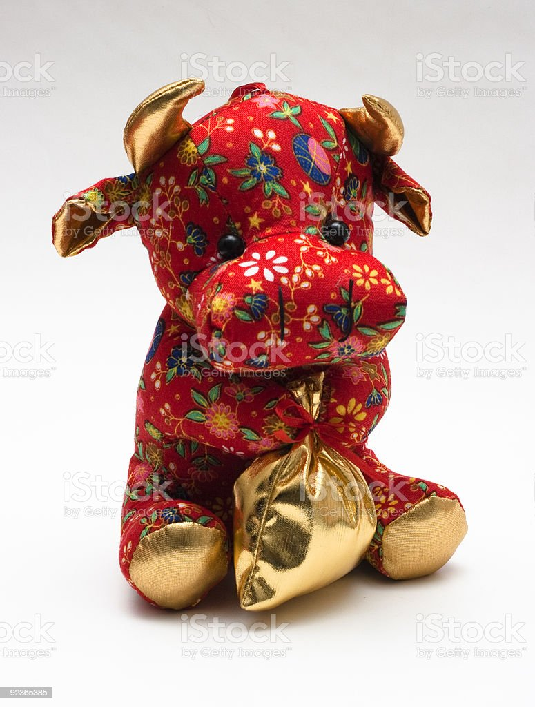 Chinese ox toy royalty-free stock photo