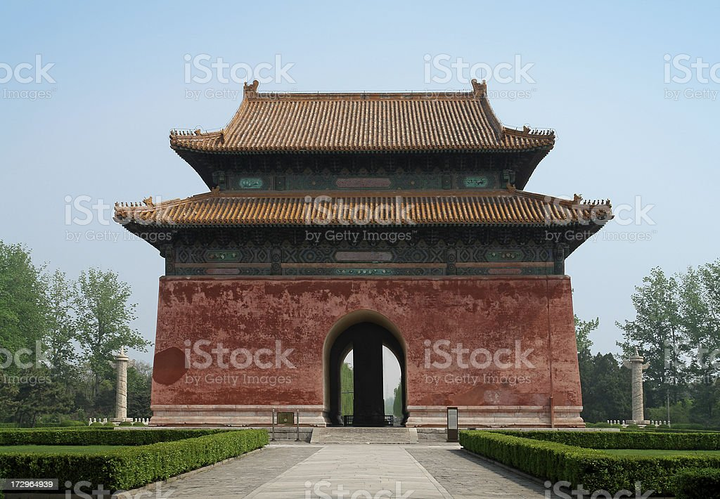 Chinese Pagoda in the Ming Tombs stock photo