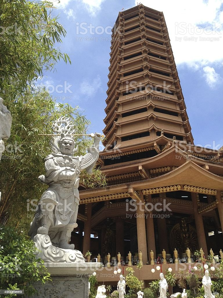 Китайский храм pagodas и Бог Статуя Стоковые фото Стоковая фотография