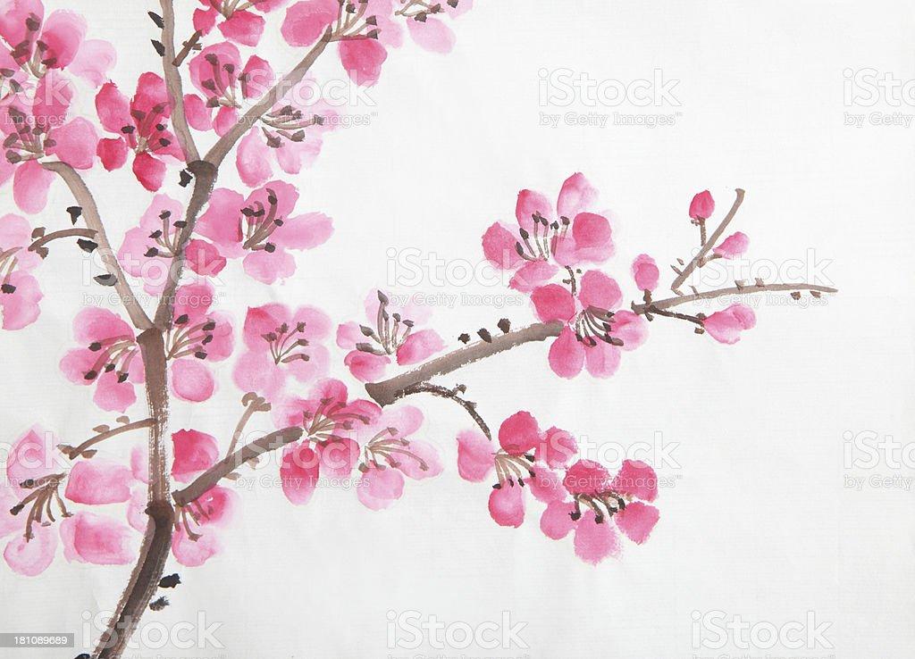chinese painting of flowers stock photo   istock, Beautiful flower