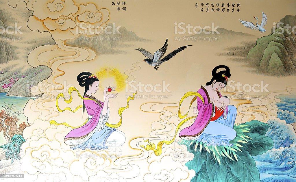 Chinese painting stock photo