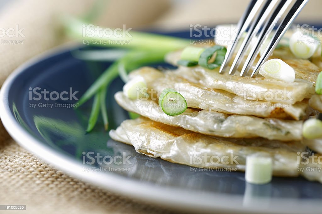 Chinese pancake stock photo