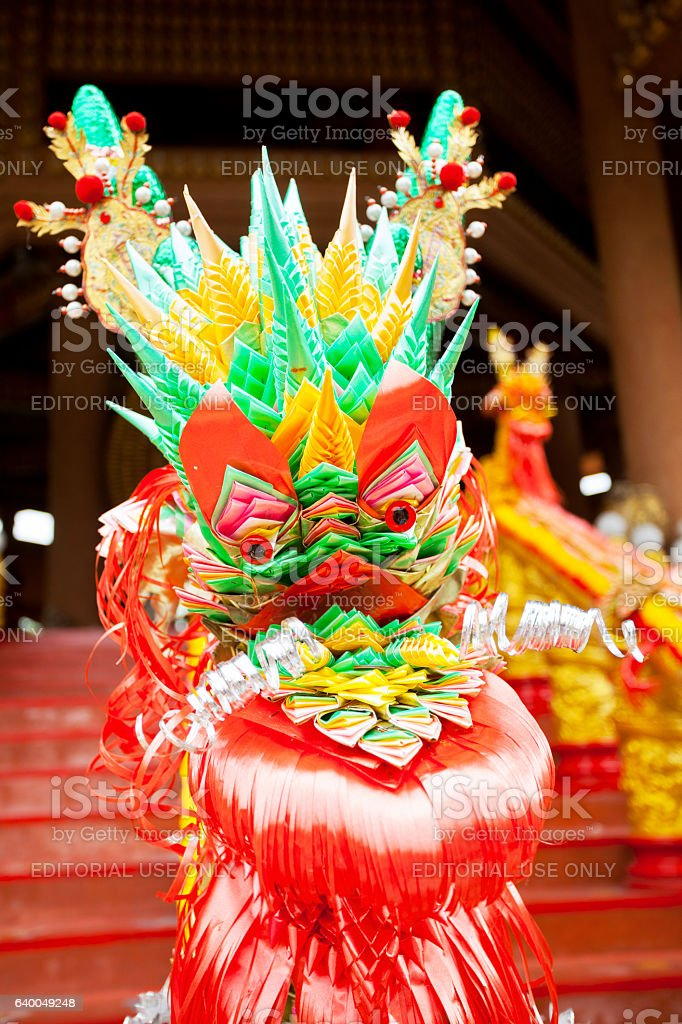 Chinese paper dragon stock photo