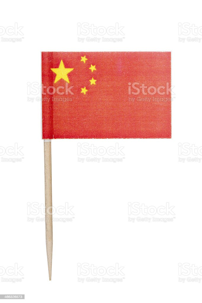 Chinese paper flag royalty-free stock photo