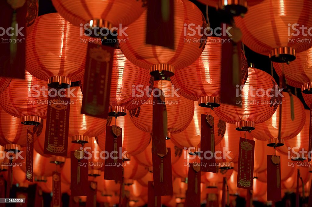 chinese paper lantern diagonal composition royalty-free stock photo