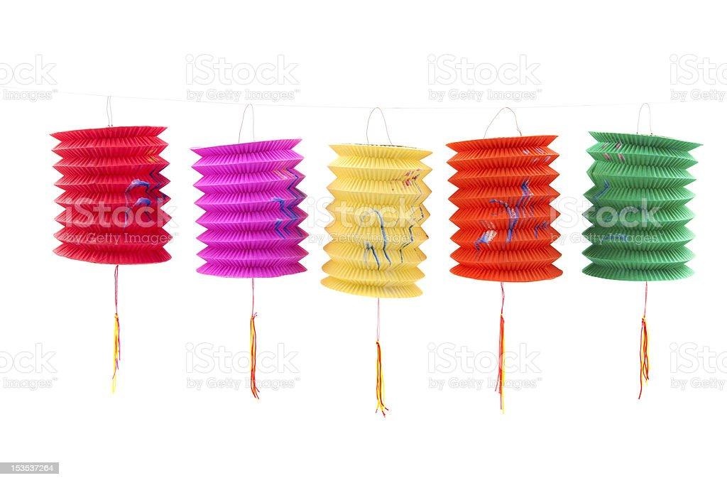 Chinese paper lanterns stock photo