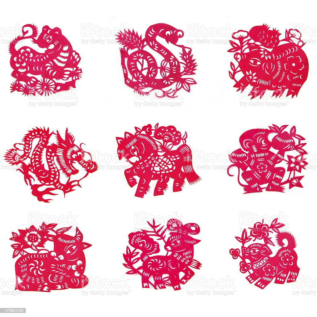 Chinese paper-cut stock photo