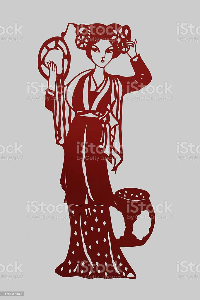 chinese paper-cut works royalty-free stock photo
