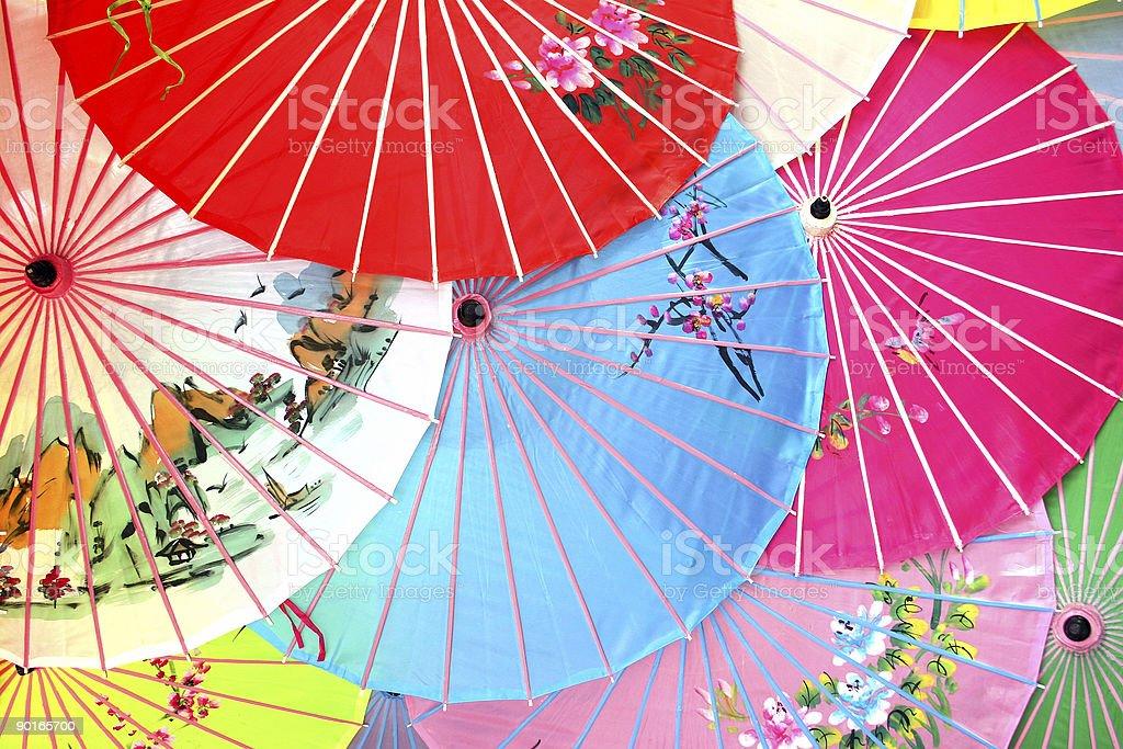 Chinese Parasols royalty-free stock photo