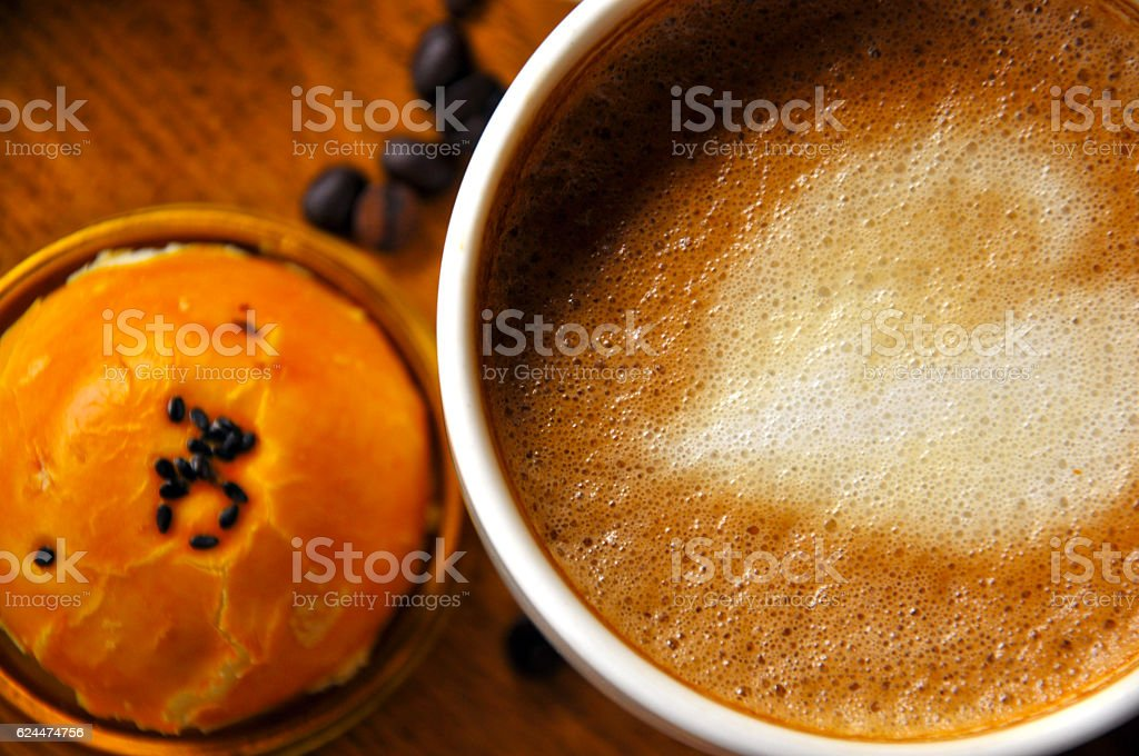 Chinese Pastry and Coffee Break in China stock photo