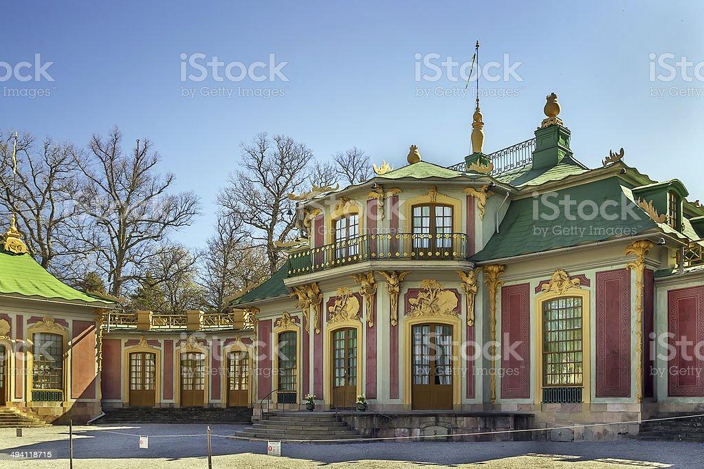 Chinese Pavilion at Drottningholm, Stockholm stock photo