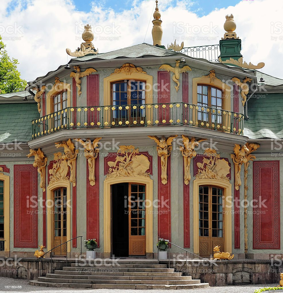 Chinese Pavilion in Drottningholm stock photo