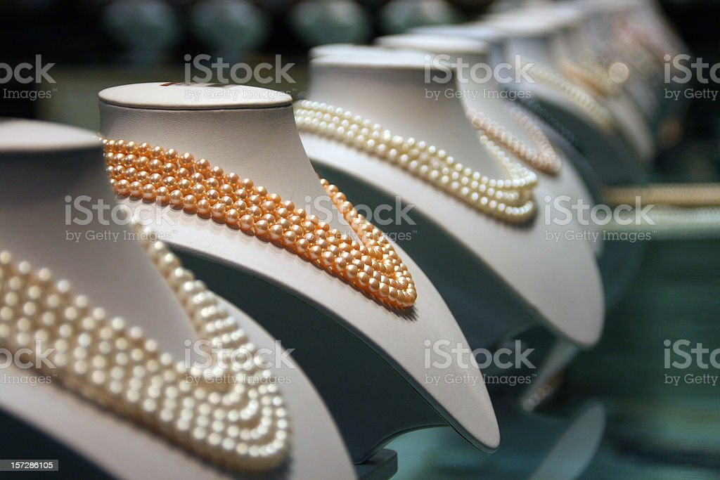Chinese pearls royalty-free stock photo