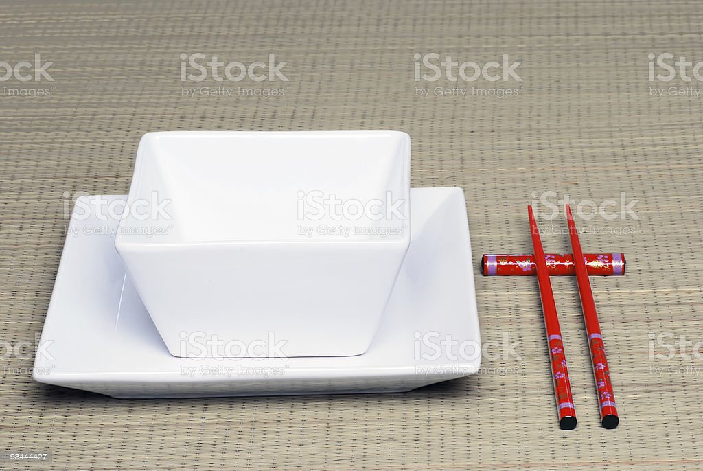 Chinese Place setting royalty-free stock photo