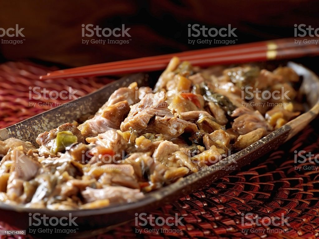 Chinese, Pork Bellies with Vegetables royalty-free stock photo