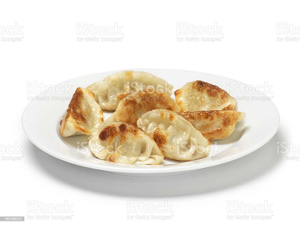 Chinese Pork Dumplings stock photo