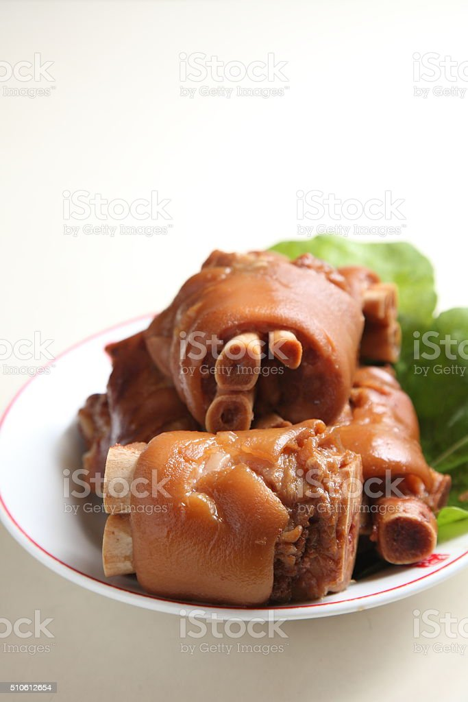 chinese pork knuckle stock photo