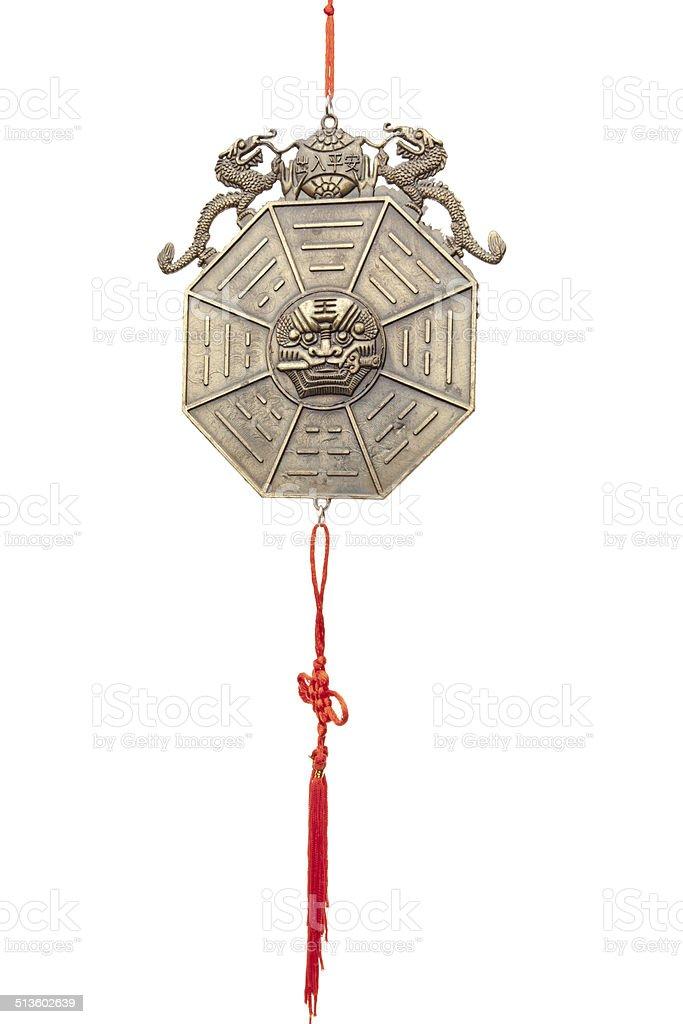 chinese protection Ba gua mirror stock photo
