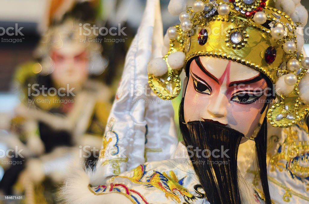 Chinese Puppet Show royalty-free stock photo
