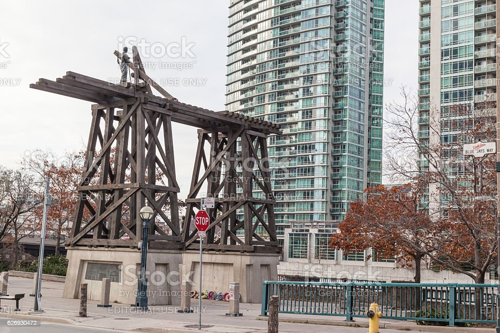 Chinese Railway Workers Memorial in Toronto, Canada stock photo