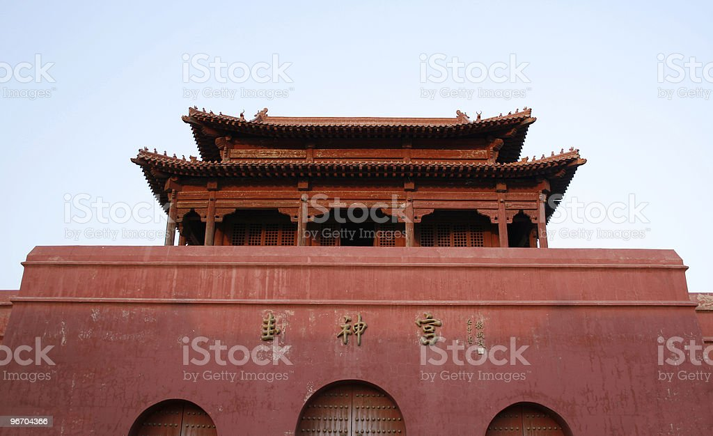 Chinese red gate royalty-free stock photo