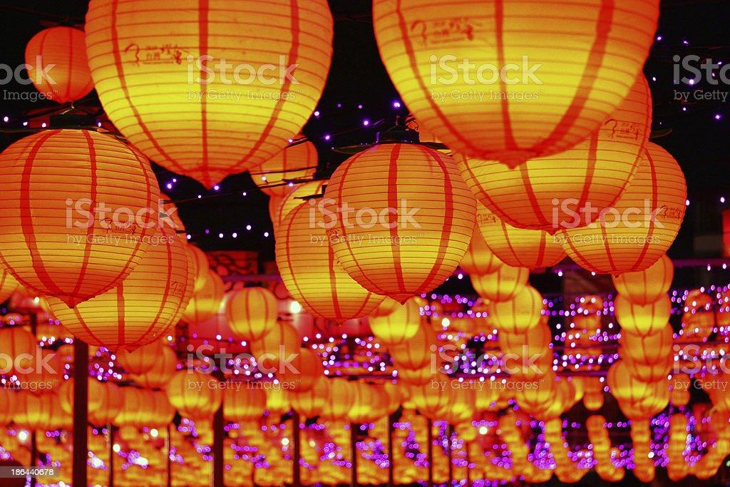Chinese red lanterns royalty-free stock photo