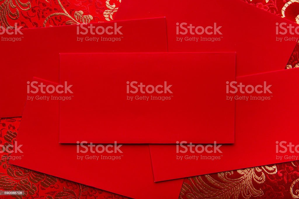 Chinese red pockket  money stock photo