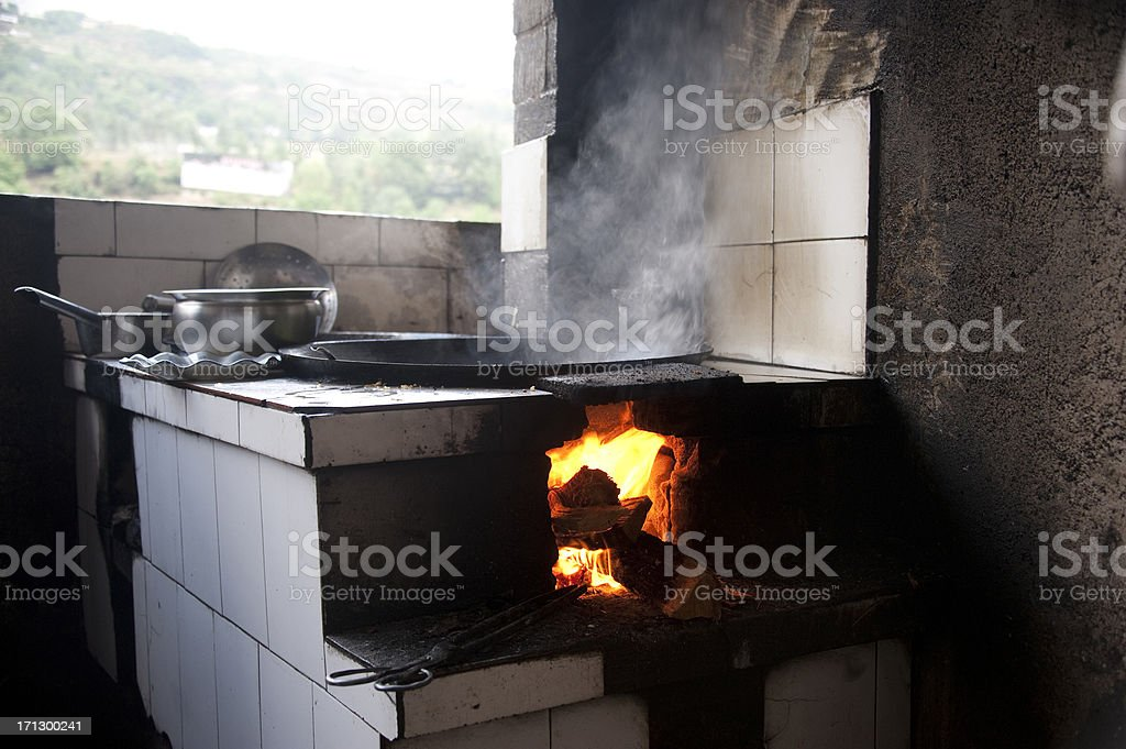 Chinese restaurant kitchen stock photo