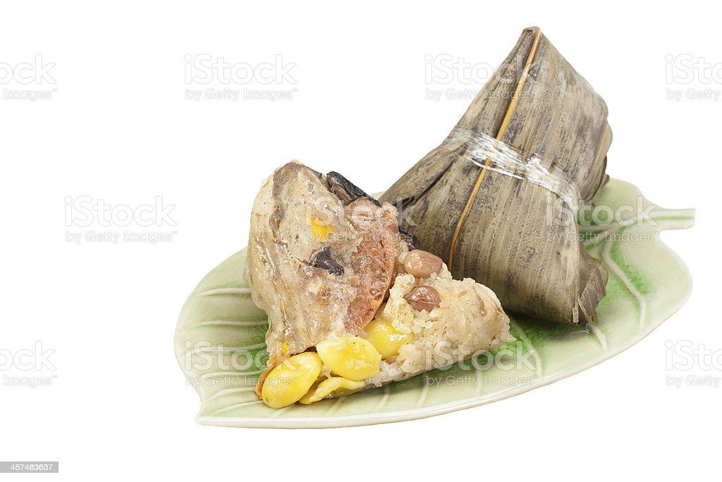 Chinese Rice Dumpling, Zongzi or Bak Chang stock photo