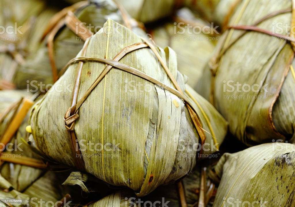 Chinese rice dumplings royalty-free stock photo