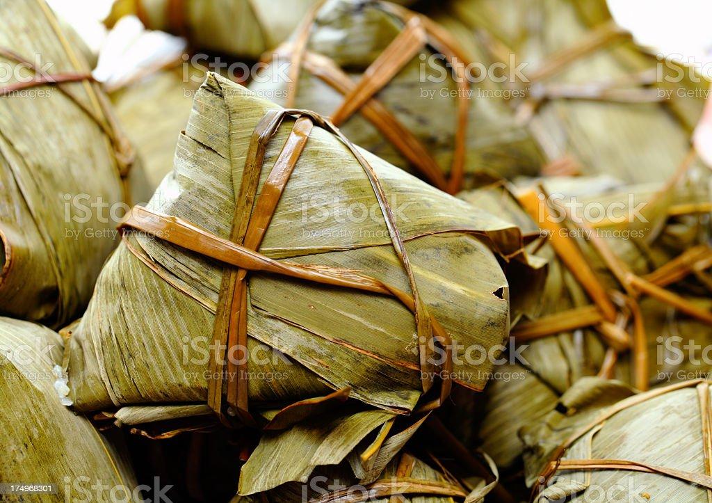 Chinese rice dumplings royalty-free stock photo