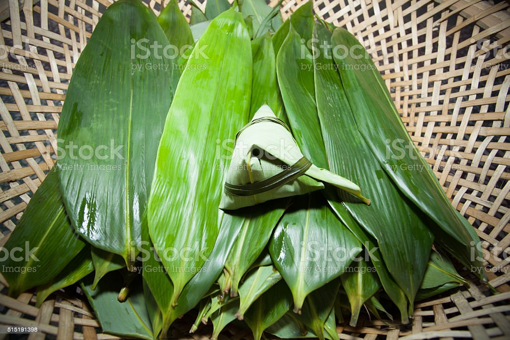 Chinese Rice Dumplings stock photo