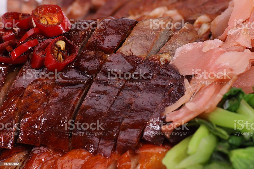Chinese roast duck and Barbecued Pork royalty-free stock photo