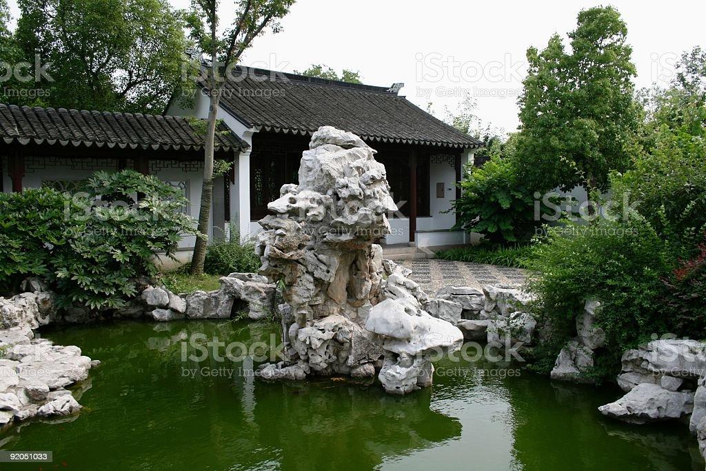 Chinese Rock Garden stock photo