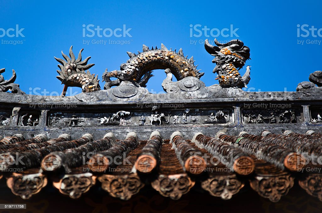 Chinese roof stock photo