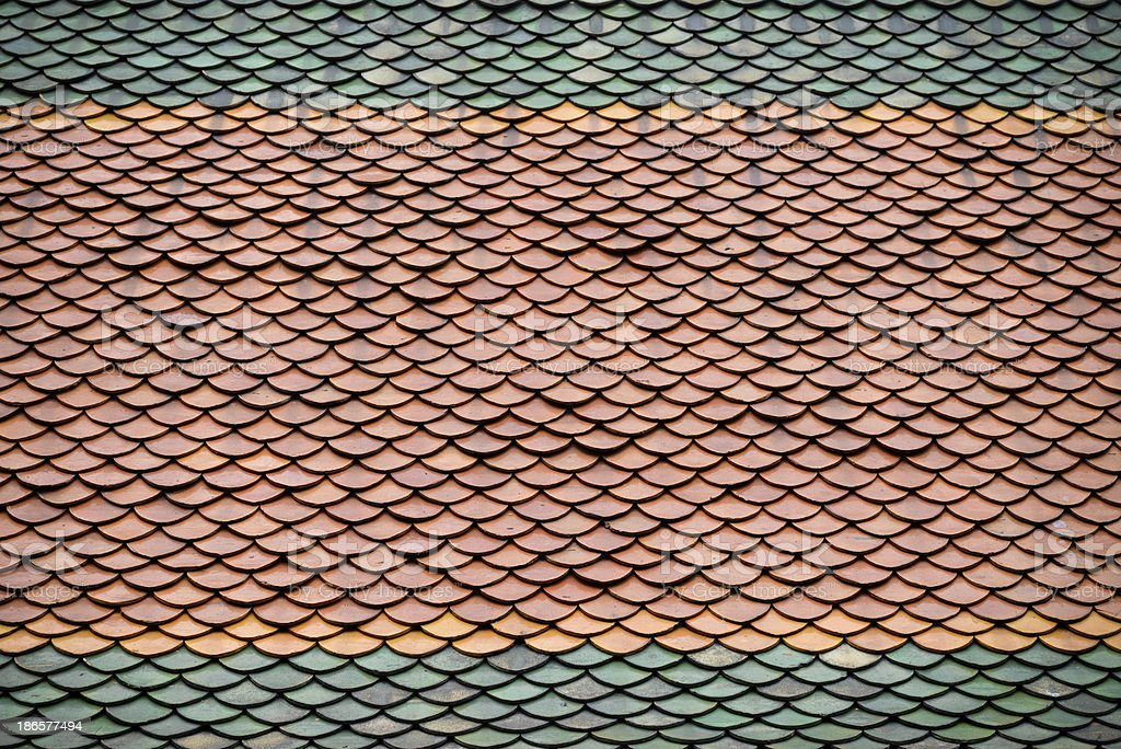 Chinese Roof Tiles royalty-free stock photo