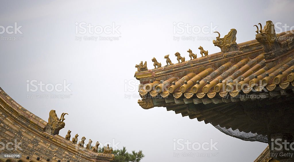 Chinese roofs royalty-free stock photo