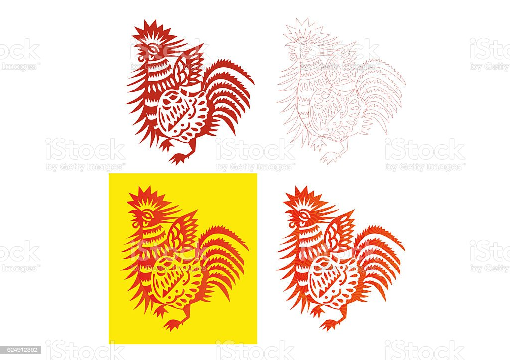 chinese rooster 2017 stock photo