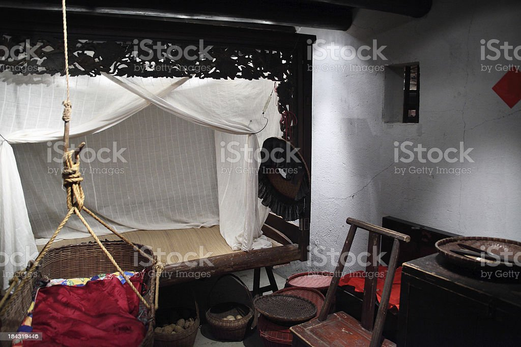 Chinese rural house interior royalty-free stock photo