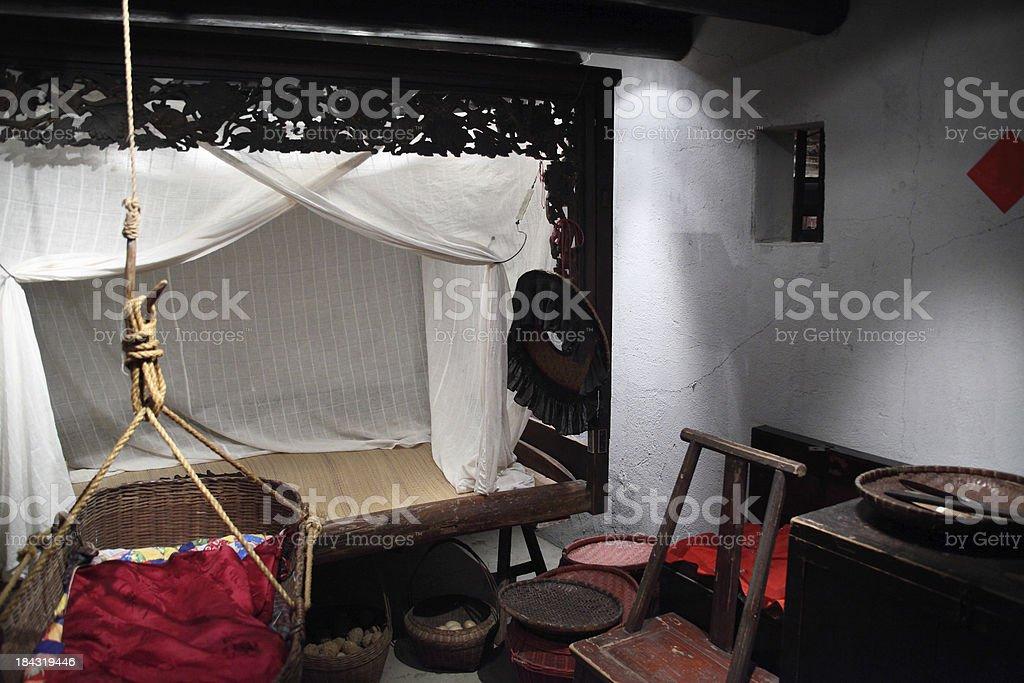 Chinese rural house interior stock photo