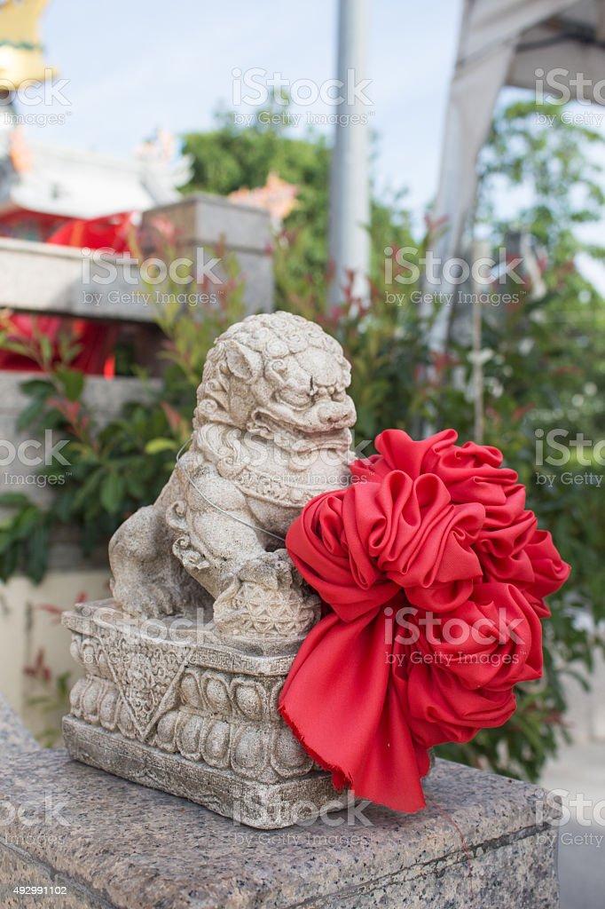 Китайский изображением животного Статуя позвоните в китайский-PE-SIA Стоковые фото Стоковая фотография