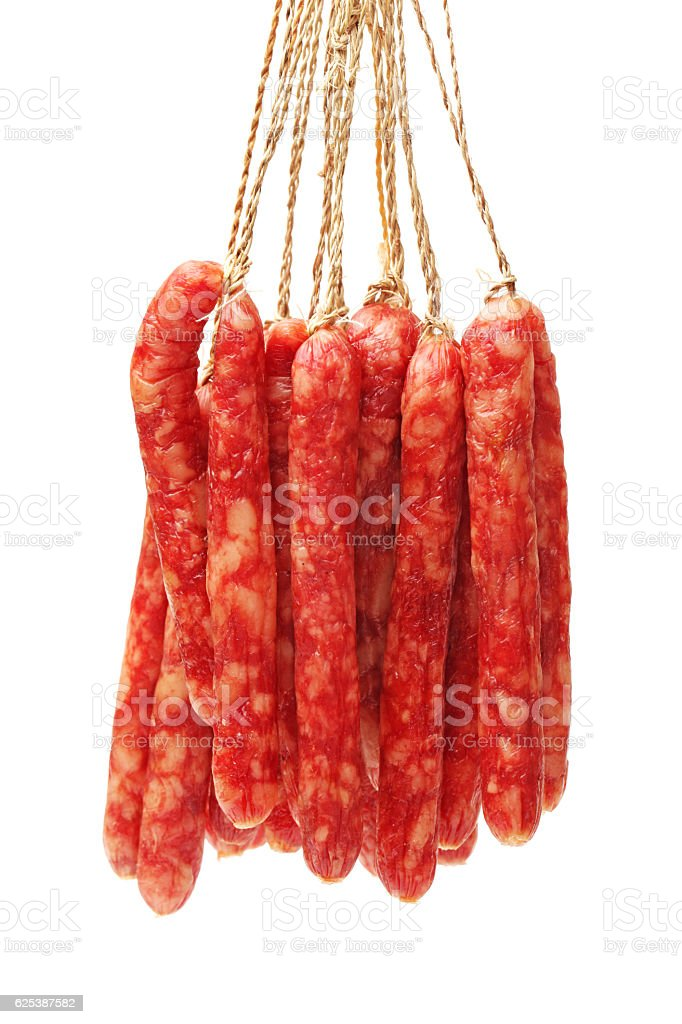 Chinese sausage stock photo