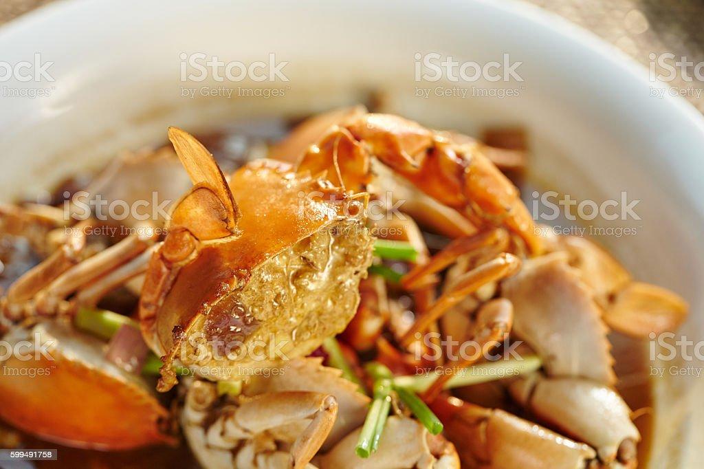 Chinese Sauteed Crab stock photo