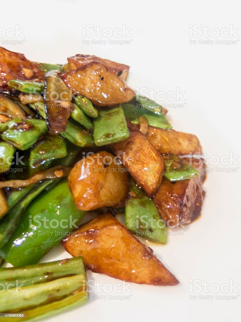 Chinese Sauteed egetables stock photo