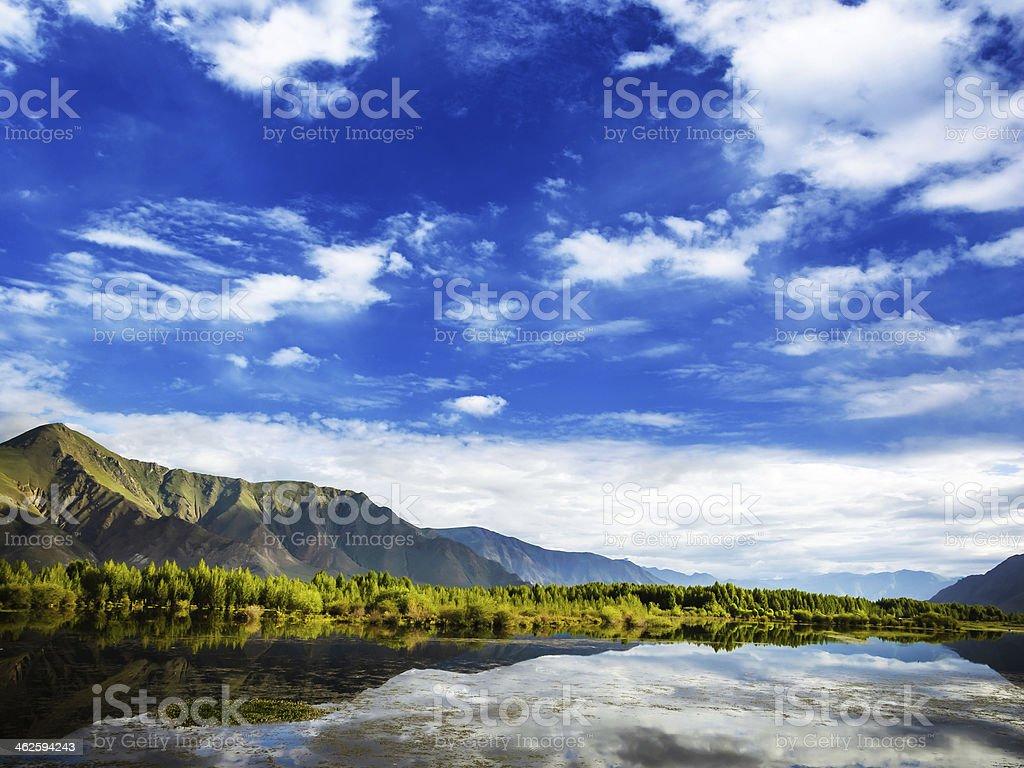 Chinese scenery of Tibet royalty-free stock photo